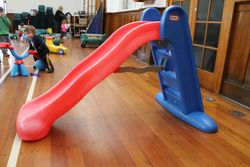 Red and blue large slide