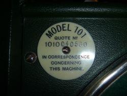 HMV Model 101 SW 7