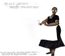 Black Woman with Fried Drumstick ver.2