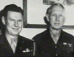 Capt. Charles Paddock with Major Gen. Usher
