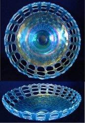 Open Edge basket, three row, IC shape, ice blue