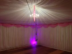 6x6m marquee with wood flooring