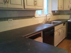 KITCHEN AFTER WITH CUSTOM BACKSPLASH