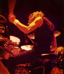 Yes in Chicago, late 1970s - Alan White (photo by David Royko)