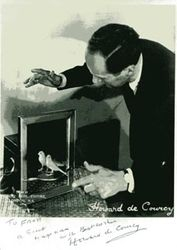 "Howard De Courcy with ""Garbo""."