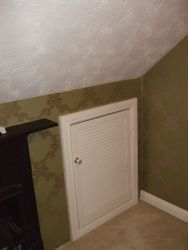 Wallpaper and White woodwork