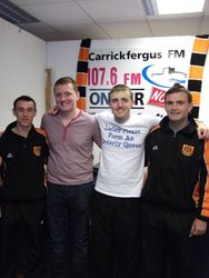 Carrick Rangers Promotion Party