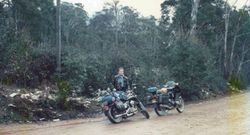 1989 'Not' the Alpine Rally @ Perkins Flat - the ride out with snow in the hills