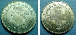 1869 Jamaica Penny Unc