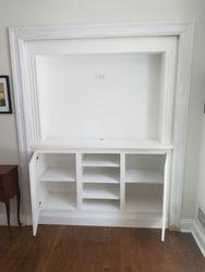 Paint Grade Wall Unit Built Into Existing Closet 2