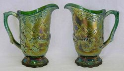 Frolicking Bears water pitcher - green by U.S. Glass
