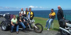 Some Northern Gateway members enjoying Tom's Trike at Sawtell - Nov 2005