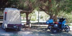 Tom's campsite at 1997 AGM Wagga Wagga NSW - Mar 1997