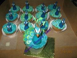 CC34 - Peacock Cupcakes