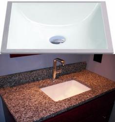 Porcelain square undermount sink