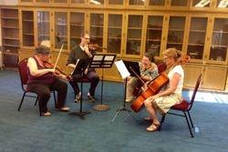 Quartet practicing