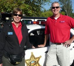 Cathy and Mission Viejo Chief of Police Lt. Gavin