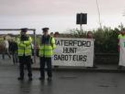 Waterford Hunt sabs Tralee demo