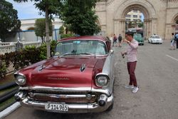 Our ride for first Havana tour