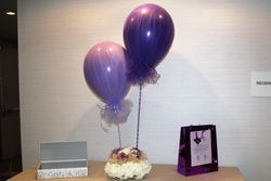 Balloon and Floral Centerpiece
