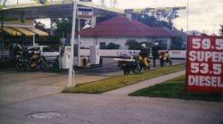 1987 Alpine Rally refuel at Goulburn