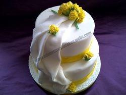Yellow Carnation  wedding cake