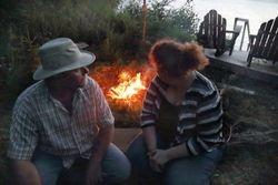 Craig and Tanya enjoying the campfire