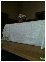 Ivory Sequin Tablecloth