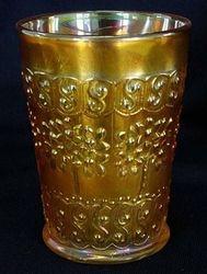 Orange Tree Scroll tumbler, in marigold