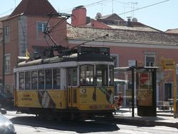 """A remodelled """"Standard"""" tram in Belem"""
