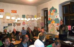 Lecture on sustainable fungi collection in Sloestica, 2012