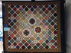 "Ann Littleton ""Compass Nine Patch"" (Quilted by Crystal Rousseau)"