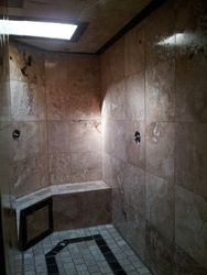 Shower Walls & Skylight
