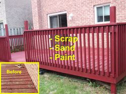 Deck refinishing