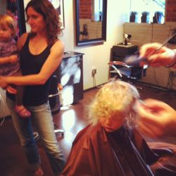 Family at the salon