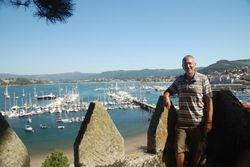 John on the ramparts overlooking the marina