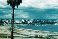 224 Perth City Skyline 1958