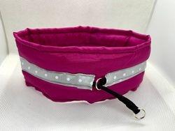 Cranberry Satin Choker with Silver dot ribbon
