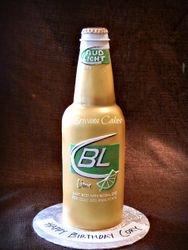 Bud Light Lime Bottle Cake