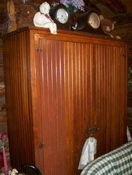antique, primitive wardrobe, cabinet