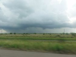Texas is FULL of tornadoes, flooding and server storms. We were lucky to of always missed the worst of it.
