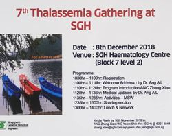 7th Thalassemia Gathering @ SGH