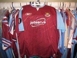 2006 UEFA Cup home worn Paul Konchesky shirt