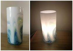 Stikline naktine lempa, nenaudota. Kaina 18