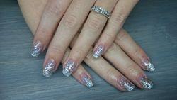 Zilveren glitter acryl fading