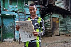 33 Vijay, in the Delhi slum he's called home since his family moved from their village in Bihar eight years ago