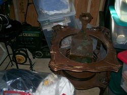 antique pitcher and basin wooden stand