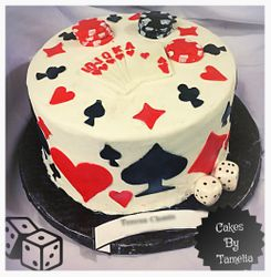 cards,hearts and dice cake,poker cake