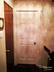Solid door installation and painting