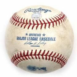Game-used Ball from Albert Pujols 1,000th RBI Game (4/25/09)